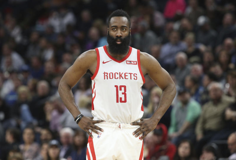 James Harden was fined $25,000 for criticizing the officials after the Rockets' loss against the Lakers on Thursday. More