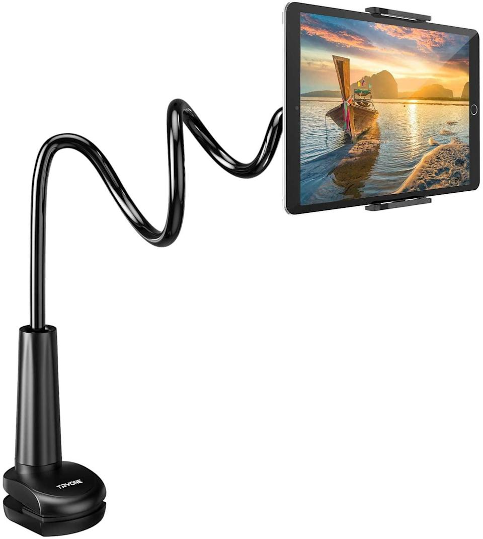 <p>This <span>Tryone Gooseneck Tablet/Smart Phone Stand</span> ($22) is so useful for multitasking. But, best of all, you can finally watch your favorite show in bed comfortably. </p>