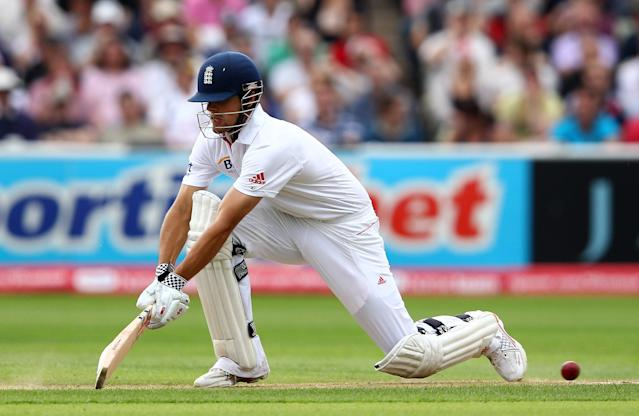 <p>Cook's highest score of 294 came against India in 2011. An innings that started on the first day and ended on the third, agonisingly short of a triple-hundred. (Getty Images) </p>