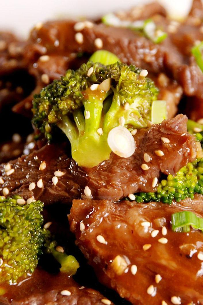 """<p>The tender beef melts in your mouth.</p><p>Get the recipe from <a href=""""https://www.delish.com/cooking/recipe-ideas/recipes/a51806/slow-cooker-beef-broccoli-recipe/"""" rel=""""nofollow noopener"""" target=""""_blank"""" data-ylk=""""slk:Delish"""" class=""""link rapid-noclick-resp"""">Delish</a>.</p><p><strong><em>BUY NOW: KitchenAid Slow-Cooker, $89; <a href=""""https://www.amazon.com/KitchenAid-KSC6223SS-6-Qt-Cooker-Standard/dp/B005MMNBDO/?tag=syn-yahoo-20&ascsubtag=%5Bartid%7C1782.g.1449%5Bsrc%7Cyahoo-us"""" rel=""""nofollow noopener"""" target=""""_blank"""" data-ylk=""""slk:amazon.com"""" class=""""link rapid-noclick-resp"""">amazon.com</a>.</em></strong></p>"""