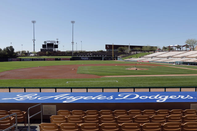 Will MLB eventually play games at empty spring training ballparks? (Photo by Tim Warner/Getty Images)
