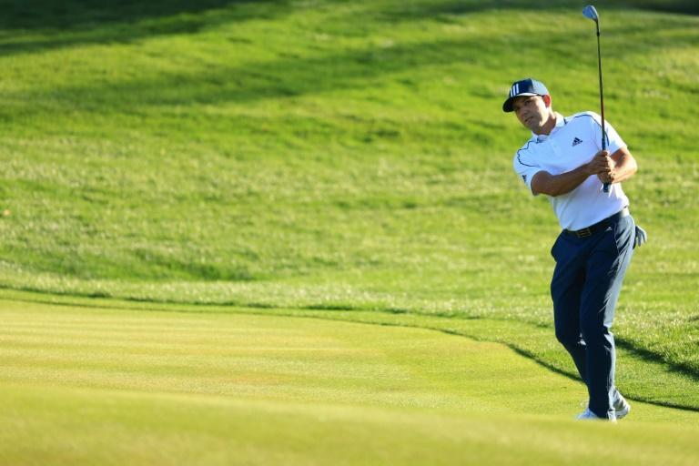 Spain's Sergio Garcia has a two-shot lead in the first round of the US PGA Tour Players Championship at TPC Sawgrass in Ponte Vedra Beach, Florida