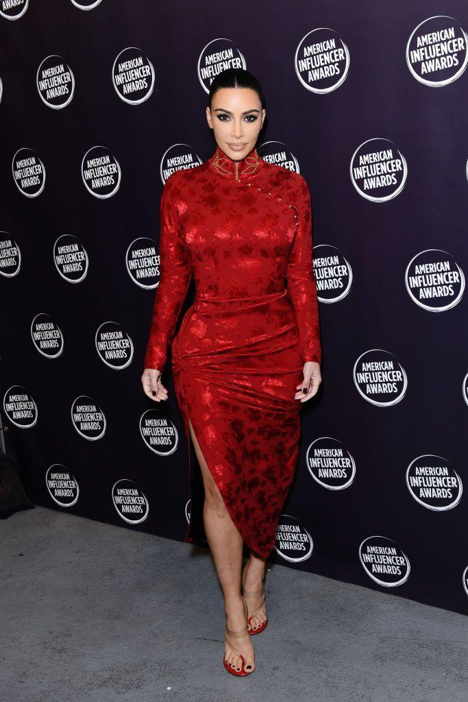 <p>The make-up mogul wore a John Galliano for Christian Dior AW97 Cheongsam-style dress to the awards ceremony.</p>