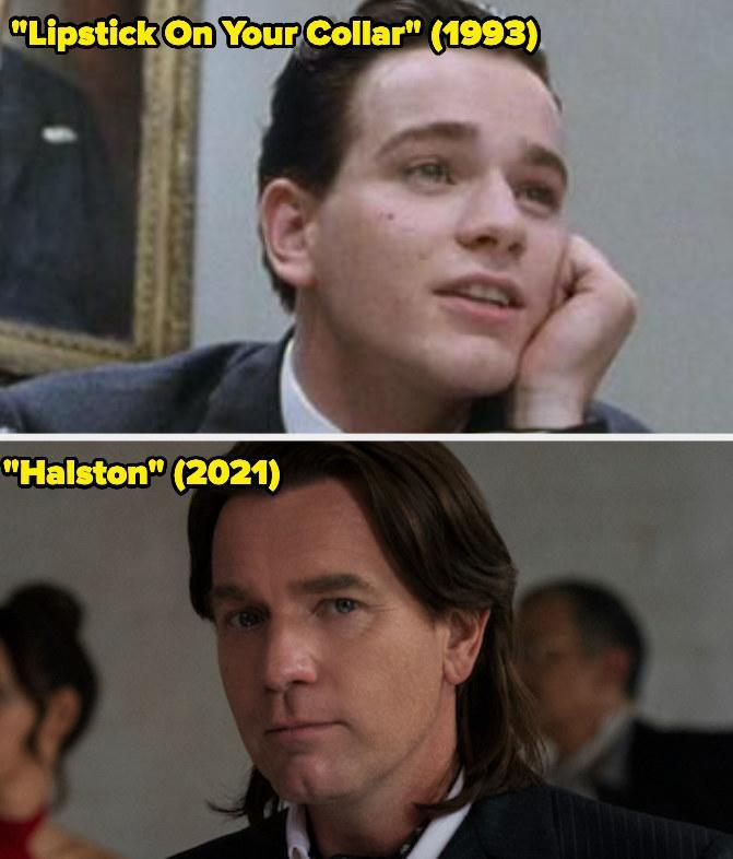 Then: He starred on the miniseries Lipstick on Your Collar.Now: He won the Emmy forOutstanding Lead Actor in a Limited Series or Movie for his portrayal of Halston on Halston.