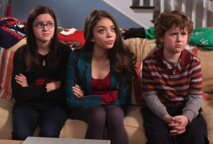 Ariel Winter got her start playing Alex Dunphy (L) on Modern Family. Photo: ABC