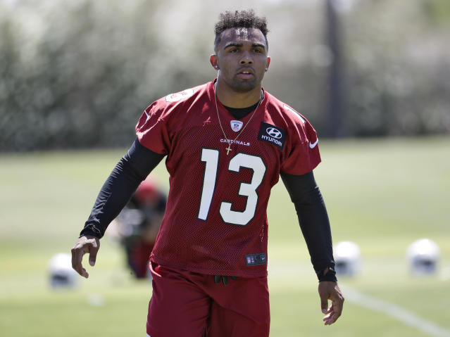 Charges were dropped against Cardinals rookie Christian Kirk after he reportedly paid restitution for damage caused by allegedly throwing rocks at cars. (AP)