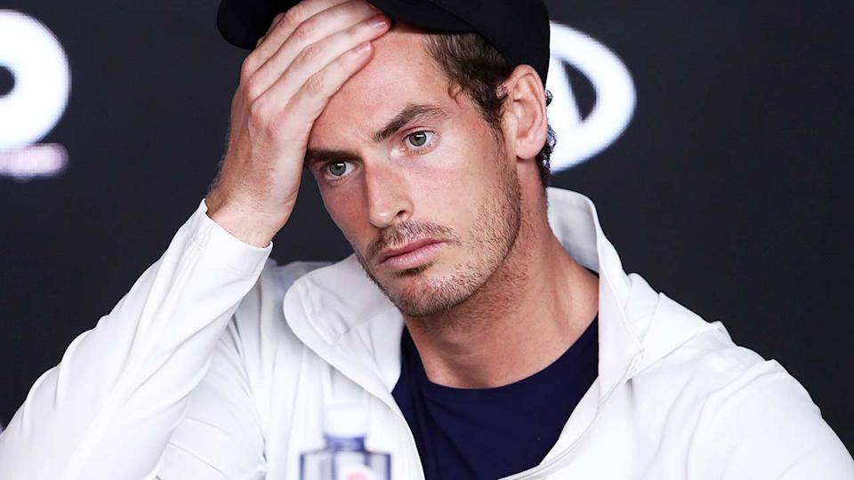 Andy Murray, pictured here speaking to the media at the 2019 Australian Open.