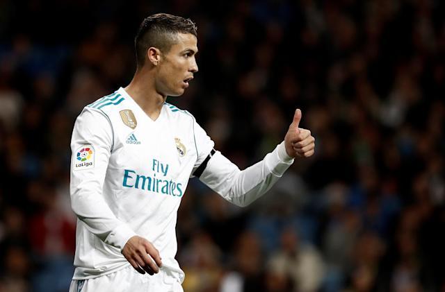 Cristiano Ronaldo, pictured in a game Nov. 5, announced the birth of his daughter just months after he became the father of twins. (Anadolu Agency via Getty Images)