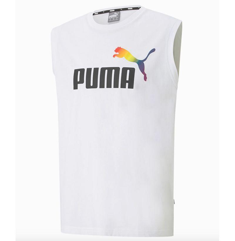 """<p><strong>Puma</strong></p><p>puma.com</p><p><strong>$25.00</strong></p><p><a href=""""https://go.redirectingat.com?id=74968X1596630&url=https%3A%2F%2Fus.puma.com%2Fen%2Fus%2Fpd%2Fpride-sleeveless-tee%2F587228.html&sref=https%3A%2F%2Fwww.esquire.com%2Fstyle%2Fmens-fashion%2Fg33003059%2Flgbtq-pride-brands-products-to-buy-support%2F"""" rel=""""nofollow noopener"""" target=""""_blank"""" data-ylk=""""slk:Buy"""" class=""""link rapid-noclick-resp"""">Buy</a></p><p>Puma is donating 20 percent of proceeds (with a maximum donation of $250,000) to the Cara Delevingne Foundation, to be used to support LGBTQ+ charities. </p>"""