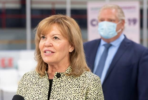 Ontario Health Minister Christine Elliott is pictured on March 30, 2021. The province is closing in on 10 million vaccine doses administered. (Frank Gunn/Canadian Press - image credit)