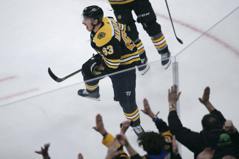 Marchand's 2 goals, 3 assists carry Bruins to 6-4 win