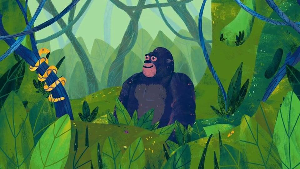 The film points to mountain gorillas as an example of conservation (OOF Animation/Royal Society/PA)