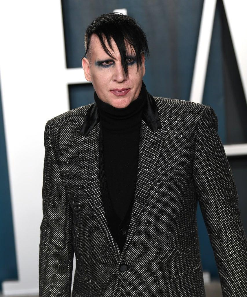 BEVERLY HILLS, CALIFORNIA – FEBRUARY 09: Marilyn Manson arriving for the 2020 Vanity Fair Oscar Party Hosted By Radhika Jones, at the Wallis Annenberg Center for the Performing Arts on February 09, 2020 in Beverly Hills, California. (Photo by Karwai Tang/Getty Images)