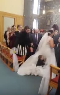 This kid just did what all of us secretly want to do at every wedding