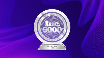 Inc. Magazine has announced that Car Keys Express is once again featured on the annual Inc. 5000 list, the most prestigious ranking of the nation's fastest-growing private companies.