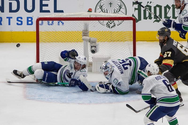 Block this: Canucks getting almost entire bench blocking shots against Vegas