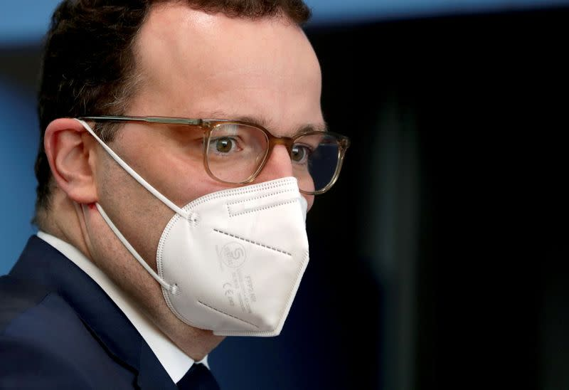 German health minister holds news conference on COVID-19 pandemic