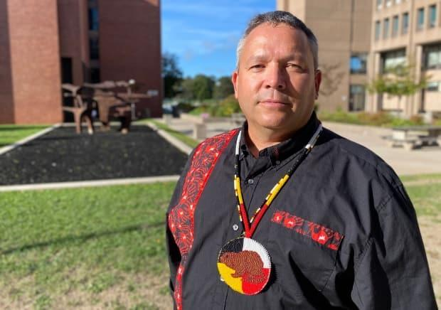 Abegweit First Nation Chief Junior Gould is shown in this file photo. 'I think for a provincial and territorial First Nations leadership to be recognized and have the same seat as every other province in the country, I'm just ecstatic,' he says. (John Robertson/CBC - image credit)
