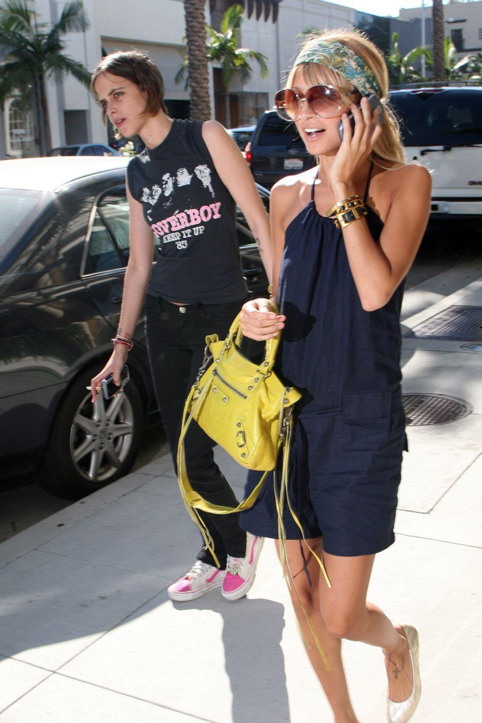 <p>Something strange happened in '06: The fringe on bags grew so long it seemed like the tassels touched the ground, as seen here on Nicole Richie. </p>