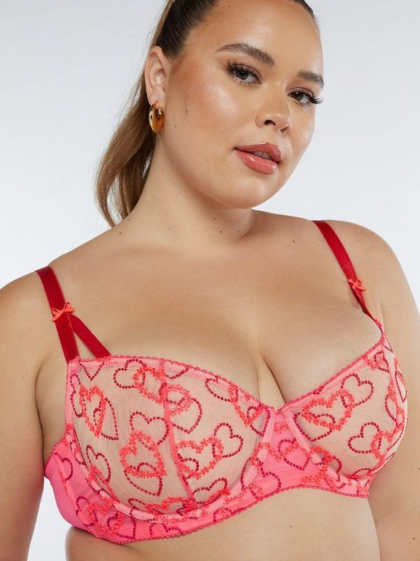 <p>Cue heart eyes. This <span>Savage x Fenty Linking Hearts Embroidery Unlined Lace Balconette Bra</span> ($65) is as cute as they come.</p>