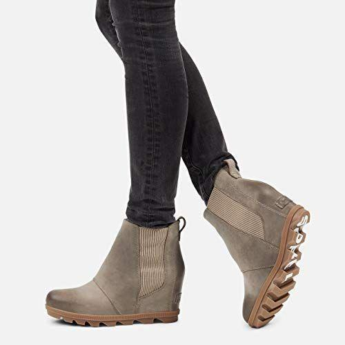 """<p><strong>Sorel</strong></p><p>amazon.com</p><p><strong>$119.95</strong></p><p><a href=""""https://www.amazon.com/dp/B083QD54ZM?tag=syn-yahoo-20&ascsubtag=%5Bartid%7C2164.g.32598715%5Bsrc%7Cyahoo-us"""" rel=""""nofollow noopener"""" target=""""_blank"""" data-ylk=""""slk:Shop Now"""" class=""""link rapid-noclick-resp"""">Shop Now</a></p><p>A textured sole gives these wedges plenty of traction, so you can easily transition from commute to office, day to night...the list goes on! </p>"""