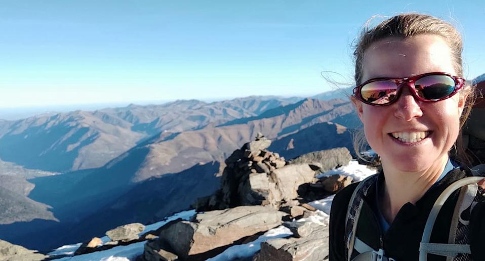 Missing hiker Esther Dingley in what is believed to be the last photo she took.