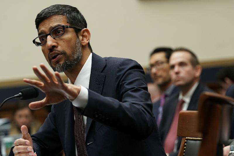 Google CEO Sundar Pichai told lawmakers in December the internet giant acknowledges a need for national privacy regulations (AFP Photo/ALEX WONG)