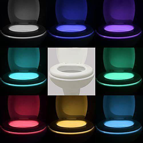 """It fits on any toilet bowl, and has 16 colors, 5 brightness levels and a 170 degree radius.<br /><br /><strong>Promising review:</strong>""""I am 9 months preganant and my sister is 8 months pregnant. So I decided for Christmas this would be the best stocking stuffer. I am so happy I bought this.<strong>I honestly wish I had gotten it sooner.</strong>Especially with how frequent getting up to use the restroom at night is when you are pregnant. This light is perfect because it allows you to get your business done and return to bed without really getting out out of sleep due to the light brightness in comparison to the actually restroom light!! Great buy! I have already had several family memeber request that I buy them one as well😉"""" — <a href=""""https://www.amazon.com/gp/customer-reviews/RSZTZRKVF9ITJ?ASIN=B01IT0K2OQ&ie=UTF8&linkCode=ll2&tag=huffpost-bfsyndication-20&linkId=798b629b6297960b0964ca6153012cf2&language=en_US&ref_=as_li_ss_tl"""" target=""""_blank"""" rel=""""noopener noreferrer"""">Olga</a><br /><br /><strong><a href=""""https://www.amazon.com/Vintar-16-Color-Motion-5-Stage-Detection/dp/B01IT0K2OQ?&linkCode=ll1&tag=huffpost-bfsyndication-20&linkId=7cecdc84eb4c0ac936ba1ecae077c539&language=en_US&ref_=as_li_ss_tl"""" target=""""_blank"""" rel=""""noopener noreferrer"""">Get it from Amazon for $14.99.</a></strong>"""