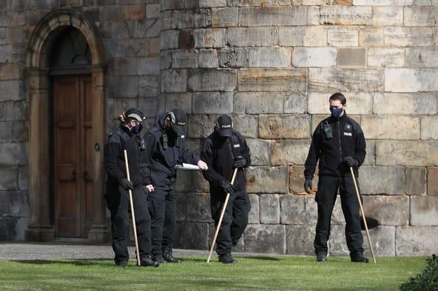 Police at Holyroodhouse