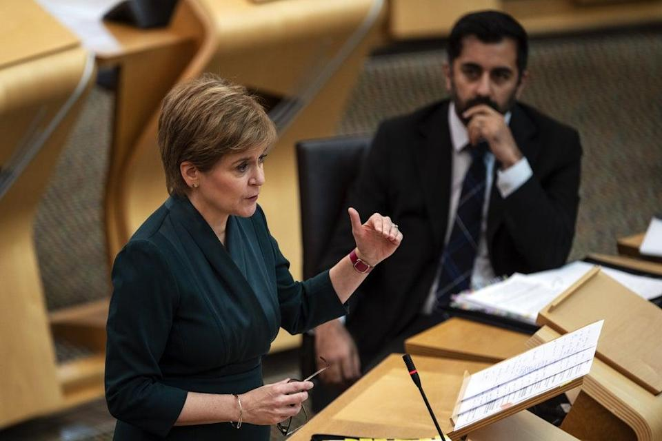 First Minister Nicola Sturgeon said the coronavirus pandemic is the main cause of problems with ambulance response times (Andy Buchanan/PA) (PA Wire)