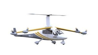 The Jaunt Journey is an all-electric aircraft with vertical take-off and landing (eVTOL), designed to meet the highest performance and safety standards. The aircraft offers a solution for several urban and regional air mobility markets. (CNW Group/Jaunt Air Mobility)