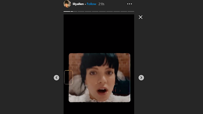 Screengrab from Lily Allen Instagram