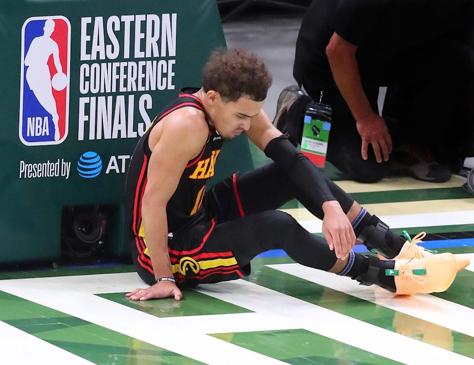 Trae Young is shooting 23.8% from 3-point range in the Eastern Conference finals.
