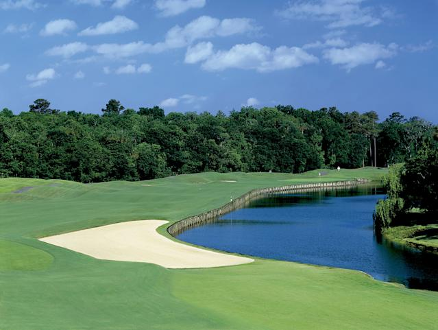 "<h1 class=""title"">PGA TOUR - 2002 TPC Sawgrass Dye's Valley Course</h1> <div class=""caption""> A view of the sixth hole at TPC Sawgrass Dye's Valley Course. </div> <cite class=""credit"">PGA</cite>"