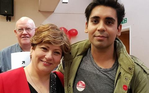 Aman Thakar with Emily Thornberry - Credit: Facebook