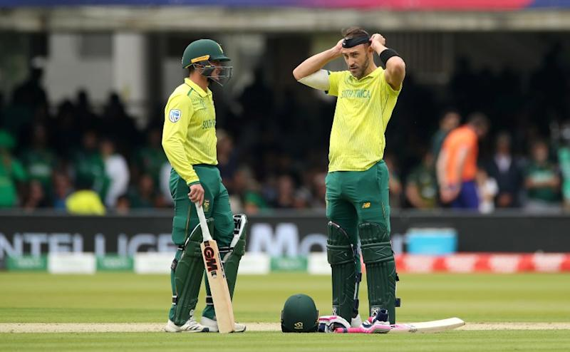 Quinton de Kock and Faf du Plessis were the only Proteas batsmen who provided some sort of resolve before De Kock fell for 47. Reuters