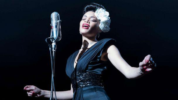 PHOTO: Andra Day stars in a scene from the 2021 film, 'The United States vs. Billie Holiday.' (Takashi Seida/Paramount Pictures)