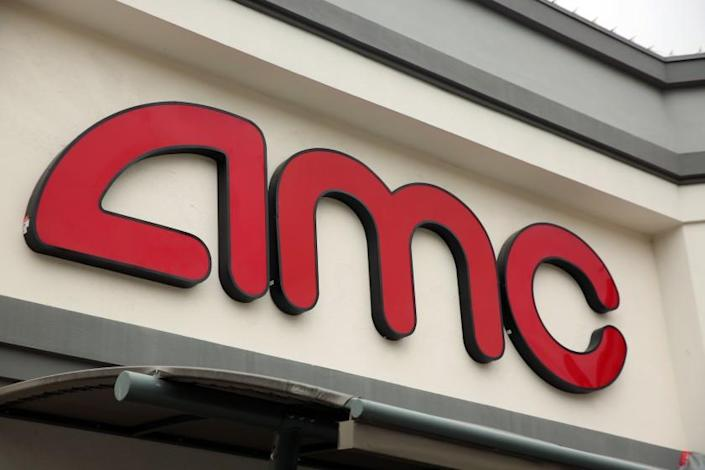 LOS ANGELES, CA - JANUARY 27: An AMC at 8000 Sunset Blvd. is photographed in West Hollywood on Wednesday, Jan. 27, 2021 in Los Angeles, CA. (Dania Maxwell / Los Angeles Times)