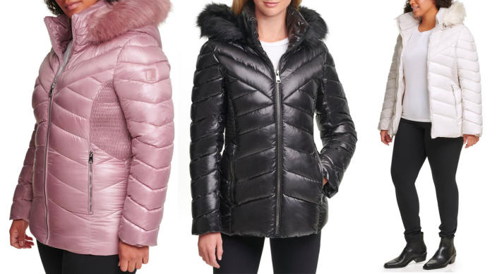 Kenneth Cole Faux Fur Front Zip Puffer Jacket (Photo: Nordstrom Rack)