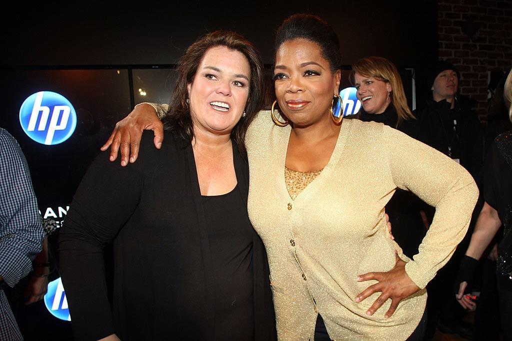"Talk show queens Rosie O'Donnell and Oprah Winfrey chatted each other up while attending the HP Hosted Documentary Event. Think they hit the slopes together, too? Kristin Murphy/<a href=""http://www.gettyimages.com/"" target=""new"">GettyImages.com</a> - January 22, 2011"