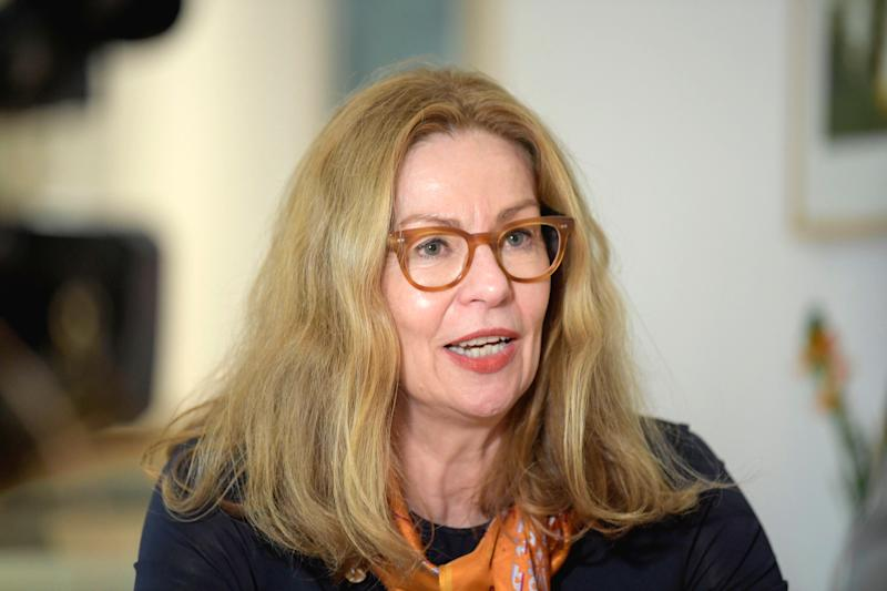 Picture taken on March 22, 2019 shows Swedbank's CEO Birgitte Bonnesen during an interview in Sockholm, Sweden. - Swedbank, in the focus of investigators in connection with a larger money laundering scandal, has fired its CEO Birgitte Bonnesen on March 28, 2019. (Photo by Janerik HENRIKSSON / TT News Agency / AFP) / Sweden OUT (Photo credit should read JANERIK HENRIKSSON/AFP/Getty Images)