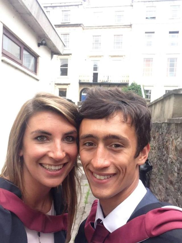Alexis and Joe when they graduated from the University of Bristol (Getty)