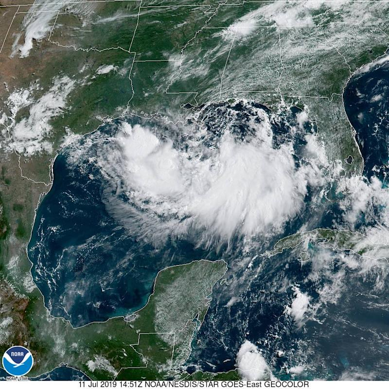 Hurricane warning issued in Louisiana as Tropical Storm Barry gains strength in Gulf of Mexico