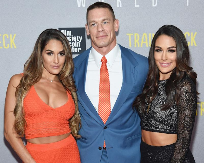 Nikki Bella, John Cena and Brie Bella