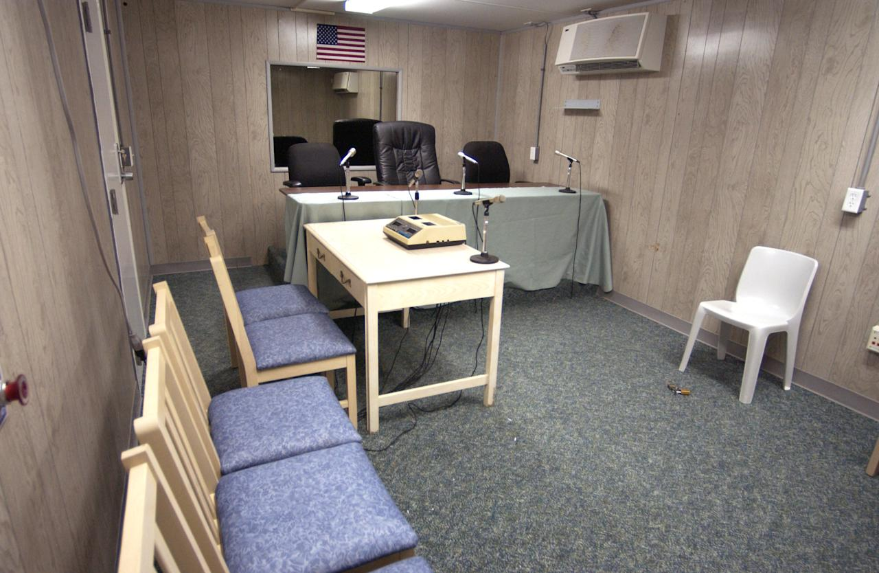 The facility where the Combatant Status Review Tribunals will take place for detained enemy combatants at Guantanamo Bay, Cuba.  Photograph was taken July 29, 2004. DoD photo by PH1 Christopher Mobley. (Released)