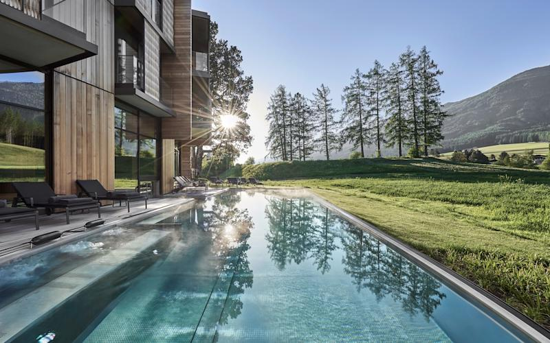 Lanserhof is a luxury modernist bolt-hole nestled into a Tyrolean mountainside