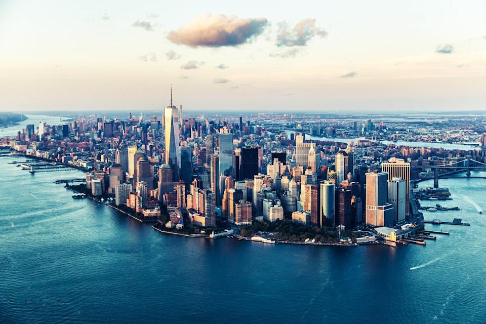 An aerial view of Manhattan, New York (Getty Images)