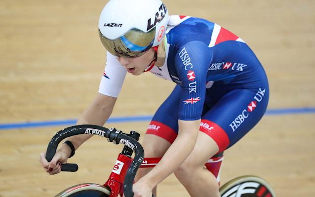 <span>Jolien D'Hoore thought Barker resembled erstwhile team-mate Laura Kenny</span> <span>Credit: REX FEATURES </span>