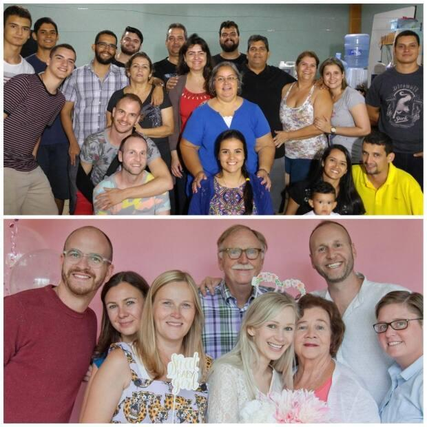 Both Lucas de Faria's family in Goiania, Brazil, (top), and Jonathan Hobin's in Ottawa, (bottom), are excited to welcome a new member.
