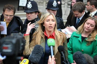 Heather Mills outside the High Court